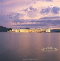 Evening Overview Taj Lake Palace