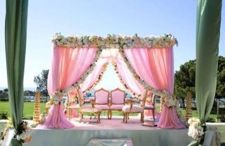 Foral Wedding Mandap