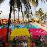Pool Side Wedding Decor