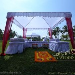Wedding Mehendi Setup at Holiday inn Goa