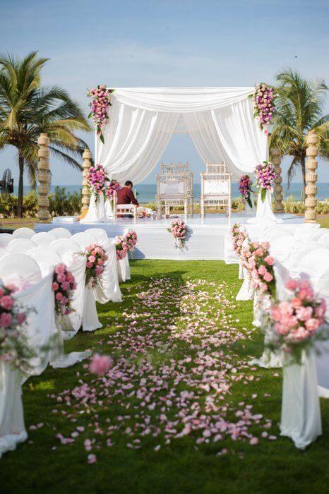 White Wedding Mandap Decor