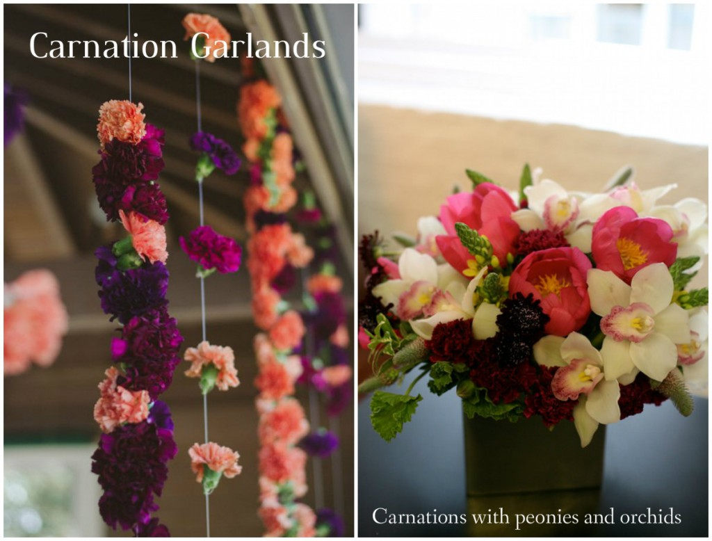 carnation decor at indian wedding