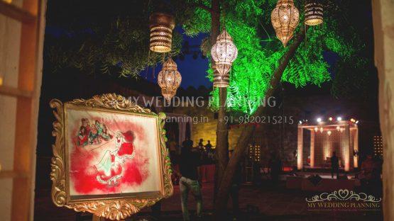 indian theme paiting decor