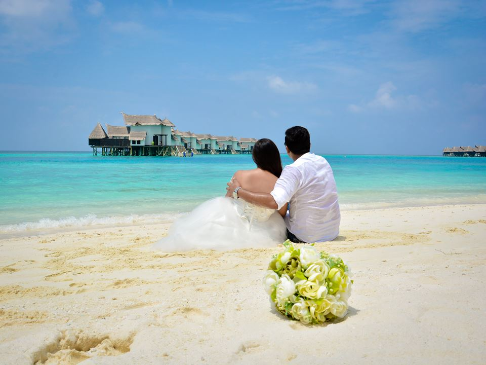 maldives beach wedding