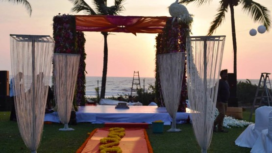 wedding mandap on beach